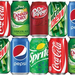 Assorted Soda - Coke - Pepsi - Diet Coke - Diet Pepsi - Ginger Ale - Mountain Dew - Dr Pepper