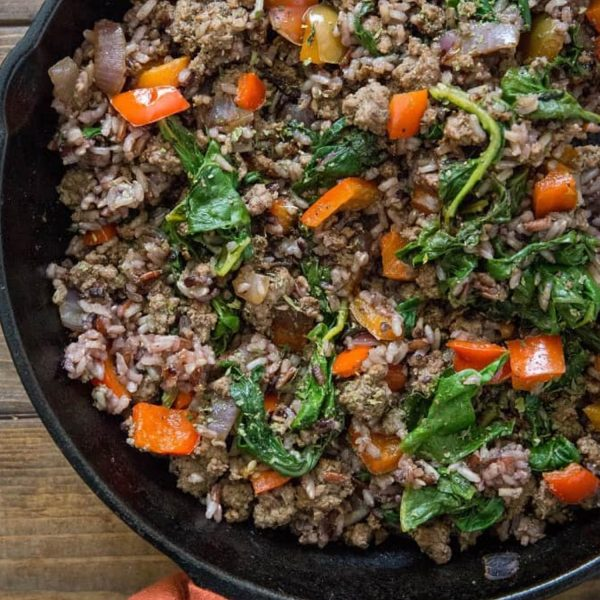 Ground Beef - Regular - Lean - Ground Beef and Wild Rice Skillet