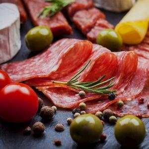 Hot and Mild Mortadella Deli Meats