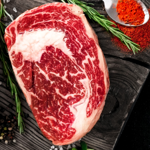 Rib Eye Steak - Raw - Richard's Fine Meats - 260 Lakeshore Road - St Catharines - ON - 289-362-1792