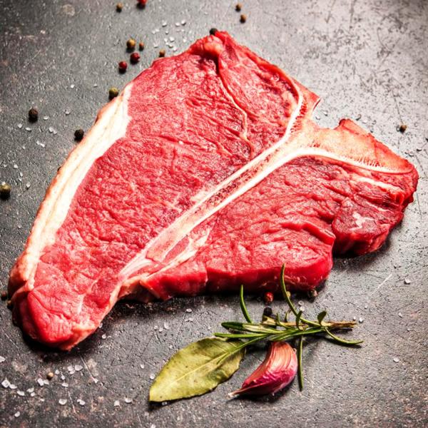 T Bone Steak - Raw - Richard's Fine Meats - 260 Lakeshore Road - St Catharines - ON - 289-362-1792